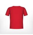 Mens red t-shirt vector image
