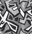 monochrome graffiti seamless vector image