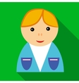 School boy in uniform icon flat style vector image