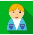 School boy in uniform icon flat style vector image