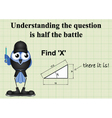 Find X mathematical question vector image vector image