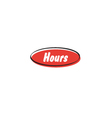 Hours button vector image vector image