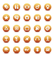 icons for travel and leisure vector image vector image