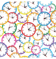 Seamless pattern with colorful clocks vector image vector image