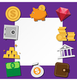 Paper note and business icons set vector image vector image
