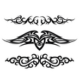 set of tattoo design elements vector image vector image