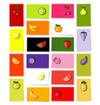 fruits cards vector image