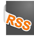 left side sign rss vector image
