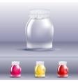 Jar of jam vector image