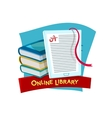 Online library vector image