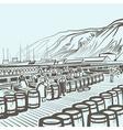 Fish factory vector image