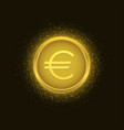 golden euro coin3 vector image