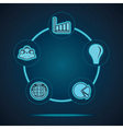 Group of business related icons vector image