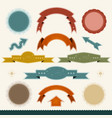 grunge banners arrows and ribbons vector image