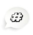 Hashtag Speech vector image
