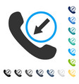 incoming call icon vector image