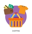 Internet Shopping Flat Icons vector image