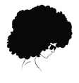 profile silhouette of girl vector image