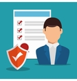 security insurance design vector image