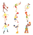 Sports People Set vector image