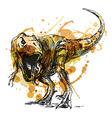 Colored hand sketch tyrannosaurus vector image