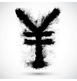 Yen grunge sign vector image vector image