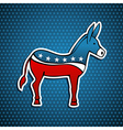 USA Democratic Party donkey vector image vector image