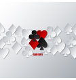 casino card suits vector image