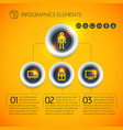 business infographic diagram template vector image