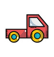 trunk vehicle transportation style design vector image vector image