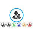chemist rounded icon vector image