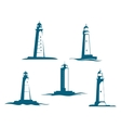 Lighthouse towers vector image