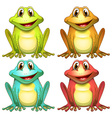 Frogs vector image