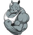 Strong rhinoceros vector image