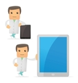 set of funny cartoon doctor vector image