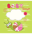 Cute baby background with snail vector image vector image