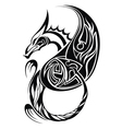 dragon tatoo vector image vector image