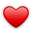 modern heart vector image vector image