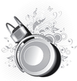 headphones on a background vector image