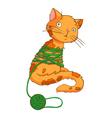 cartoon cat playing vector image vector image