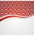 Background with a red header vector image