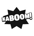 comic boom kaboom icon simple black style vector image