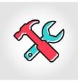 line flat repair icon vector image