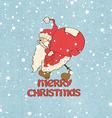 Santa Claus stuck and gift bag vector image