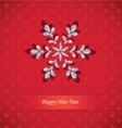 snowflake-card vector image