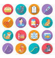 veterinary care icon set vector image