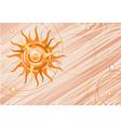 Orange sun in the background vector image