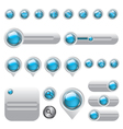 Web elements set buttons vector image vector image