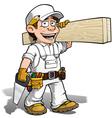 Handyman Carpenter Color it Yourself vector image