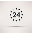 24 hours icon on light background vector image